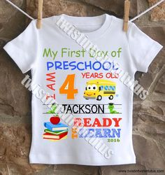 Boys First Day of School Shirt