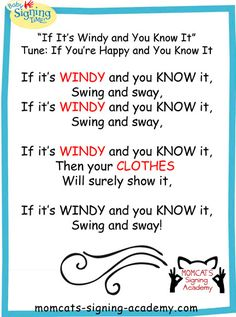WEATHER SONG We learn the signs for weather, outside, bugs and more in our Sign and Play Level 2 class! Preschool Weather, Preschool Music, Preschool Themes, Preschool Science, Science Classroom, Spring Songs For Preschool, Preschool Sign In, Classroom Ideas, Preschool Class