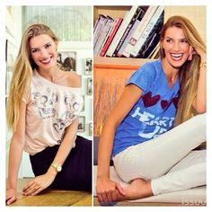 El #estilo de @laura sanchez con #camisetas @Bloomers & Bikini #moda #style #glamour #pretty #cool #laurasanchez #stile #fashion #t-shirt #maglietta @Pinterest