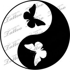 Here at Create My Tattoo, we specialize in giving you the very best tattoo ideas and designs for men and women. Stencils, Stencil Art, Yen Yang, Yin Yang Art, Yin Yang Designs, Impression Textile, Brust Tattoo, Yin Yang Tattoos, Dot Art Painting