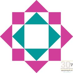 Make an adorable Bryan's Star Quilting Block from flying geese! This star quilt block is made from cheerful pink and teal fabric and has a geometric, blocky feel. If you've never learned how to make flying geese, these instructions will introduce you to that basic and versatile quilting unit.