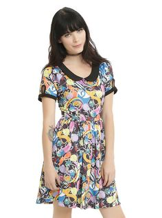 Cartoon Network Adventure Time Allover Print Dress, MULTI