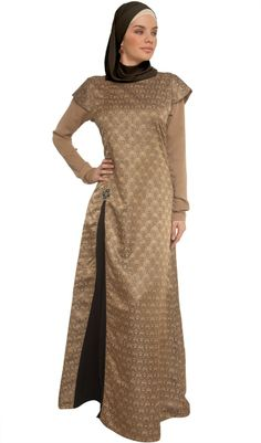 Sabeen Formal Long Maxi Dress with Brooch and FREE wrap Artizara Muslim Women Fashion, Islamic Fashion, Woman Fashion, Lovely Dresses, Modest Dresses, Long Dresses, Muslim Evening Dresses, Ethnic Outfits, Ethnic Clothes