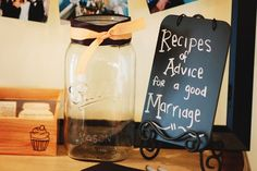 rustic bridal shower ideas | Give some advice at a rustic wedding! See more party ideas at ...