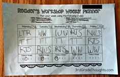 3rd Grade Thoughts: Planning Our Reader's Workshop Week + Freebie