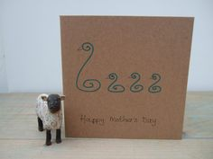Mother's Day Card Swans Hand Drawn by KathHeywoodDesigns on Etsy