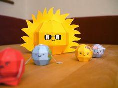 Papercraft Solar System
