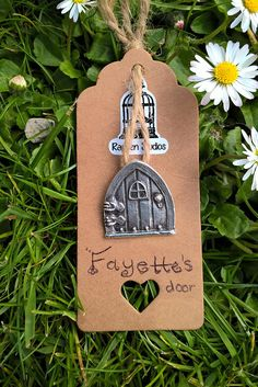 Fayettes Door Pendant / Fairy Door / PMC3 / Fine Silver 999 /