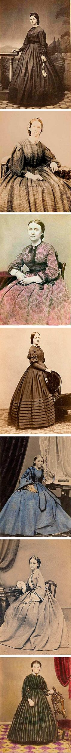 Daguerrotypes, some colored, 1860s. All pics from Phototree