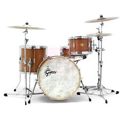 "Gretsch USA Custom Limited Ribbon Mahogany • 20""x14"" ; 12""x8"" ; 14""x14"" ; 14""x5.5"" (10 lugs) • Specifications: Limited to 12 kits ; Satin Classic Maple BD Hoops ; Micro Sensitive Throw-off"