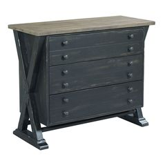 Add a ton of functional storage to your rustic home with the Hammary Reclamation Place Trestle Drawer Cabinet . This lightly distressed table features. Accent Chests And Cabinets, Homemakers Furniture, Living Room Cabinets, 3 Drawer Chest, Urban Loft, Old Wood, Accent Furniture, Furniture Collection, Home Furnishings