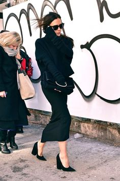 When You're A Minimalist, But Also A Spice Girl #refinery29  http://www.refinery29.com/2016/01/101670/victoria-beckham-street-style-pictures#slide-22  Still not too cold......