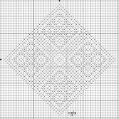 Free Daisy Diamond Counted Cross Stitch Pattern - Free Printable Chart