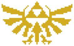 Royal Crest Cross Stitch Pattern - Legend of Zelda - (PDF Instant Download)