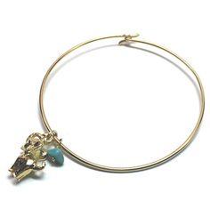 Lucky Elephant Turquoise Bangle Bracelet
