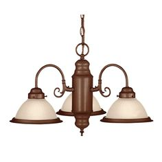 Illumine 3-Light Chandelier Brownstone Finish Frosted Ribbed Glass-CLI-SH202849782 - The Home Depot