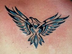 Eagle tattoo. Represents the direction up. Love