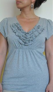 gather beneath the bust -- a way to alter that gap shirt that's too big? (For my sweet petite.)
