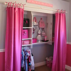 this is what I have been wanting to do for all our bedroom closets since taking down the bi-fold doors.