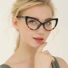 6500518043b Reboto Women S Glasses Transparent Clear Fashion Cat S Eye Spectacle Frame  Clear Lens Glasses Frame For Women Optical Eyewear Frame