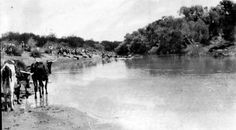 Theens Drift on the Modder River and a few men from the South African Constabulary (SAC)