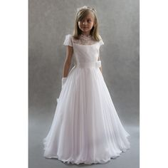Floor Length Cap Sleeves Chiffon Flower Girl Dresses,Wedding Kids Party Gowns With Appliques,Girl Pageant Dresses Junior Bridesmaid