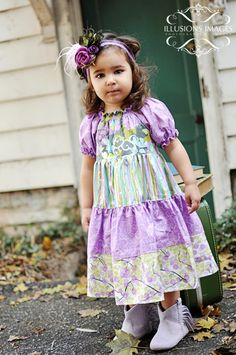 Trinity's Tiered Twirly Dress PDF Sewing Pattern for girls by Create Kids Couture