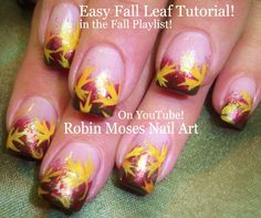 Nail Art Tutorial | DIY Fall Leaves For Beginners in 2 Minutes! | Autumn...