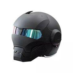 Iron Man Motorcycle Helmet - Black