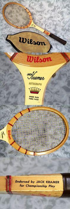 $99.00 or best offer Vtg 1950's 60's WILSON JACK KRAMER AUTOGRAPH Wooden Tennis Racket With Cover
