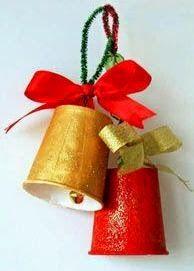 Manualidades Navideñas -Adornos bonitos con campanas   Amigos hoy quisimos hacer para ustedes un especial de campanas navideñas,si quiere...