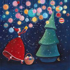 "https://www.facebook.com/MarieCardouatIllustratrice ...... ""Christmas Night"" -  by Marie Cardouat"