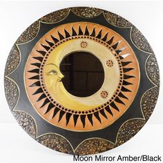 @Overstock.com - Handmade Mosaic Mirrors  - These unique mosaic mirrors feature a sun/ moon theme with detailed mosaic crafting for a nature-inspired element that will uplift your home decor.  http://www.overstock.com/Main-Street-Revolution/Handmade-Mosaic-Mirrors/8473255/product.html?CID=214117 $109.29