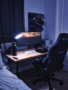 Computer Gaming Room, Best Gaming Setup, Computer Desk Setup, Gaming Room Setup, Pc Setup, Gaming Rooms, Gamer Setup, Gaming Chair, Vanity Set Up