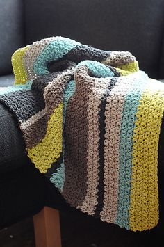 Ravelry: HaileeBee's Striped Boy Blanket