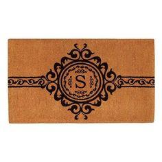 Home & More Majesty Handwoven Monogram Indoor/Outdoor Door Mat - 180072436S