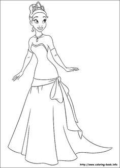 Pin De Evelyn Gamer Em Para Colorir Disney Princesa Tiana