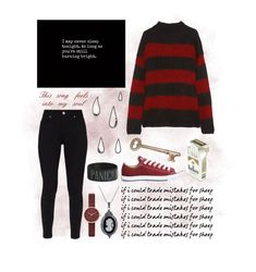 """Trade Mistakes - P!ATD"" by twenty-one-kitchen-sinks ❤ liked on Polyvore featuring Old Navy, R13, Ted Baker, Converse, Hot Topic, Skagen and Bling Jewelry"
