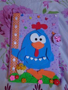 Lenny Artesanatos: Caderno galinha pintadinha