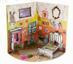 This is my pop work( by Lilly piccolina ), the girl's room in the Christmas season with a Rar chair ....