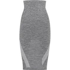 Womens Pencil Skirts LNDR Grey Stretch Jersey Pencil Skirt (€105) ❤ liked on Polyvore featuring skirts, elastic waist pencil skirt, pull on pencil skirt, striped skirt, gray skirt and pencil skirt