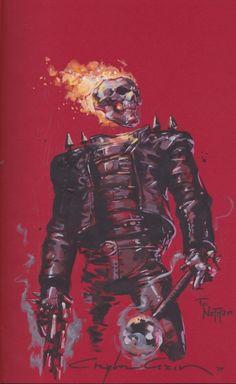 Ghost Rider by Clayton Crain Comic Art Marvel Comic Character, Comic Book Characters, Marvel Characters, Comic Books Art, Character Art, Marvel Dc, Marvel Comics Art, Marvel Heroes, Captain Marvel