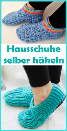 Crochet simple slippers - free guide for beginners With these crocheted slippers we can make ourselves really comfortable on the sofa! The slippers ar Crochet Shoes, Crochet Slippers, Crochet Instructions, Step By Step Instructions, Easy Knitting, Knitting Socks, Free Crochet, Crochet Baby, Crochet Stitches