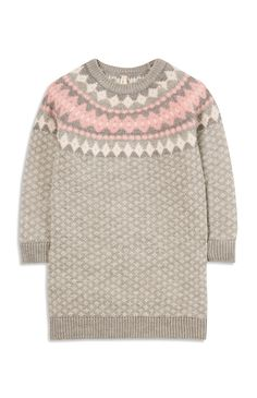 Younger Girl Knitted Fairisle Dress