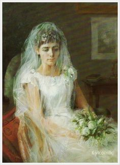 The Young Bride,1887 - Elin Kleopatra Danielson-Gambogi (Finnish, 1861-1919)