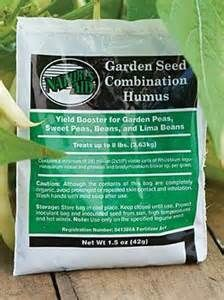 Grannys Heirloom Seeds -  Nature's Aid Organic Garden Seed Combination Humus aids in growth and production of all varieties of garden beans, peas, and lima beans.   Bean and Pea Inoculant- 1 Pack, $3.99 (http://grannysheirloomseeds.com/bean-and-pea-inoculant-1-pack/)