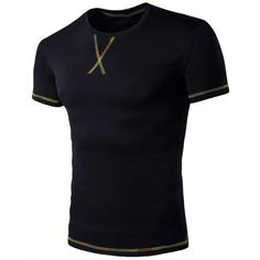 New Fashion Black White 2017 Summer T Shirt Men Fashion O Neck Short Sleeve Crosses Pattern Tops Tees Male T-Shirt