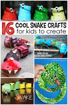 The Coolest Snake Crafts (Make for Jungle Habitat)
