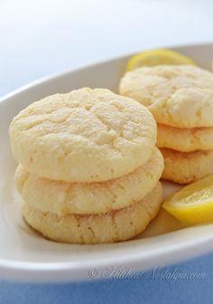 Lemon Crinkle Cookies - done in 30 minutes - kitchennostalgia.com