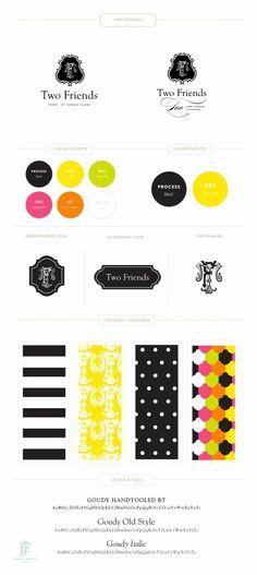 Two Friends Branding by Emily McCarthy www.emilymccarthy.com #branding
